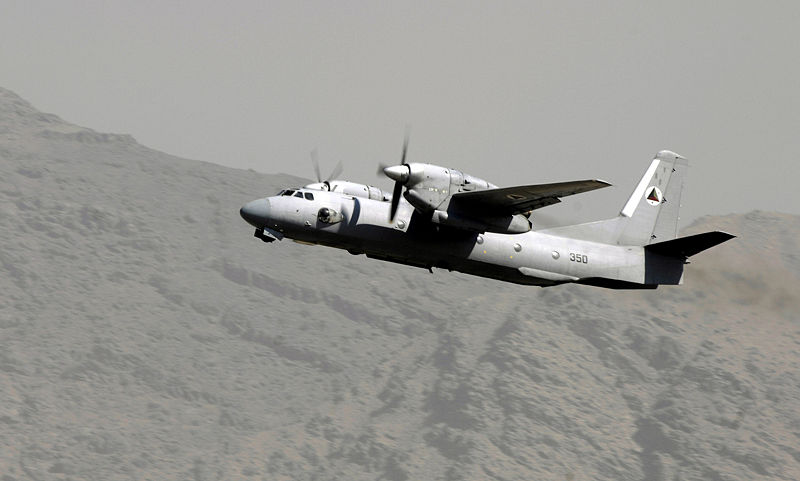 File:AN-32 cargo plane of the Afghan Air Force.jpg