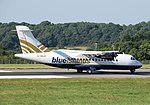 ATR 42-320 (G-ISLH) of Blue Islands at Bristol Airport, England 15Aug2016 arp.jpg