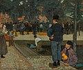 A Dutch Cheese Market by Charles William Bartlett, 1899, oil.jpg