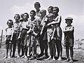 A GROUP OF ORPHANS, SURVIVORS OF THE HOLOCAUST, ATTHE RECEPTION CAMP IN ATLIT. יתומים, ניצולי שואה, במחנה המעבר לעולים בעתלית.D820-060.jpg