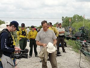 Mike Rowe - Rowe on Dirty Jobs in April 2010 with the U.S. Fish and Wildlife Service.