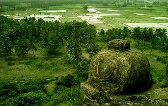 Coastal India - Scenic view of coastal plain fields near Visakhapatnam, Andhra Pradesh, India