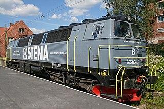 Et TMZ-lokomotiv på stationen i Östersund