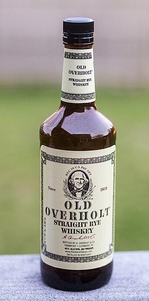 Rye whiskey - A bottle of American rye whiskey