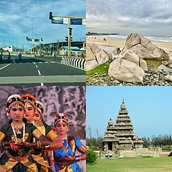 The town of Mamallapuram (Mamallapuram)