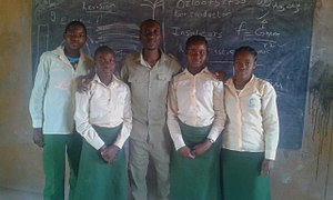 National Youth Service Corps - A Corps member and his students