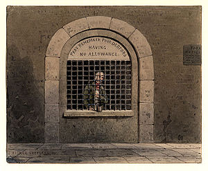 A debtor in Fleet Street Prison THS