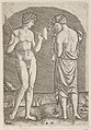 A naked man at left showing an axe to a woman at right MET DP854402.jpg