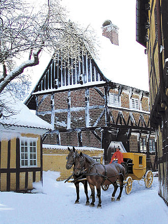 The Old Town - Snowfall in The Old Town. Horse carriages carry visitors around occasionally.