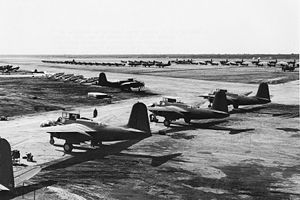 Abadan-Ayatollah Jami International Airport - U.S. planes stand ready to be picked up at Abadan Field (1942)