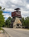 Abandoned tower in Förby limestone quarry.jpg