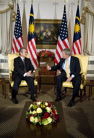 Domestic policy of the George W. Bush administration - President George W. Bush meets with Prime Minister Abdullah Ahmad Badawi of Malaysia during Bush's visit to New York City for the United Nations General Assembly.