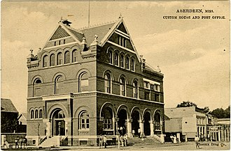 United States Courthouse and Post Office (Aberdeen, Mississippi) - Image: Aberdeen Post Office