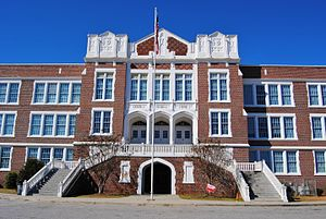 National Register of Historic Places listings in Richmond County, Georgia - Image: Academy of Richmond County, front entrance