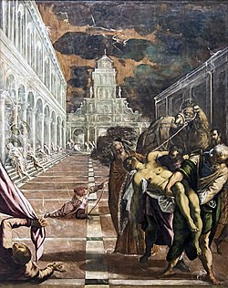 Accademia - St Mark's Body Brought to Venice by Jacopo Tintoretto.jpg