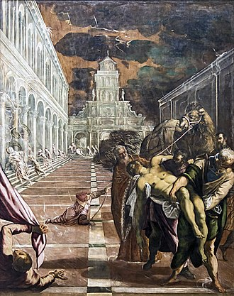 St Mark's Body Brought to Venice - Image: Accademia St Mark's Body Brought to Venice by Jacopo Tintoretto