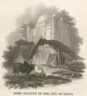 Charles D'Oyly - Image: Account of Dacca a Hut beside a Tomb