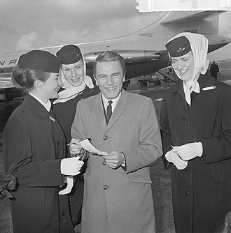Adam Faith - Faith at Schiphol Airport, 4 April 1963.