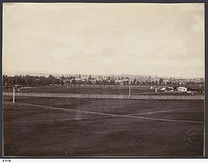 Adelaide Oval - Adelaide Oval in 1877.
