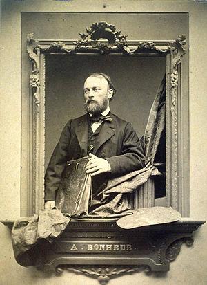 Auguste Bonheur - Portrait of Auguste-François Bonheur by French photographer Adolphe Dallemagne