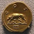 Adriano, aureo con la lupa capitolina, 125-128.JPG