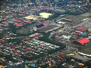 Aerial View Of Likas Sports Complex