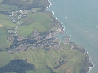 Portpatrick - Aerial view of Port Patrick, southwest Scotland.