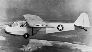 Aeronca L-3 - Piper TG-8 glider trainer in flight, similar in appearance to the Aeronca TG-5.