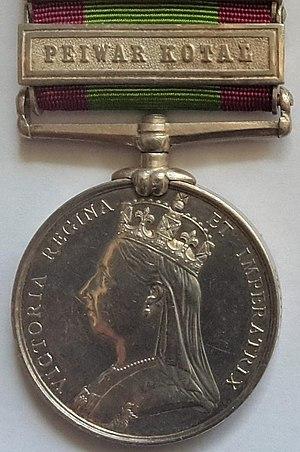 Afghanistan Medal (United Kingdom) - Image: Afghan Medal obverse