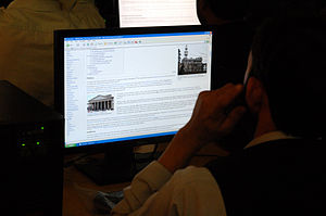 Communications in Afghanistan - Internet user at Kandahar University
