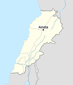 Ainata Location in Lebanon