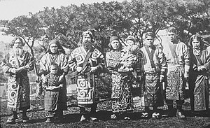 Ainu people - Group of Ainu people, 1902 photograph