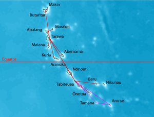 Aranuka - Air Kiribati routes