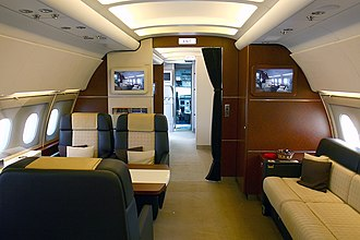 Airbus Corporate Jets - Airbus A318CJ cabin