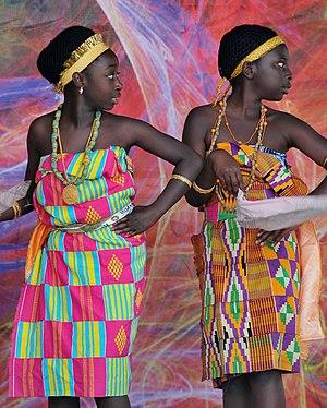 Adowa dance - Two young girls dancing Adowa