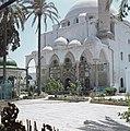 Akko. El Jezzar moskee ingangspartij met marmerincrustaties en een deel van het, Bestanddeelnr 255-9235.jpg