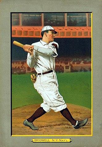 Al Bridwell - Al Bridwell baseball card, 1911