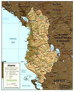 Atlas Of Albania Wikimedia Commons - Political map of albania
