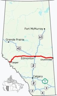 Alberta Highway 16 highway in Alberta