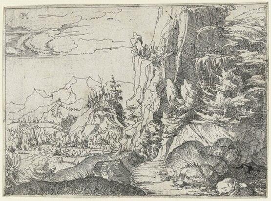 Albrecht Altdorfer, landscape, etching