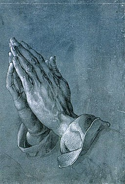 Albrecht Dürer - Study of an Apostle's Hands (Praying Hands) - WGA07062: pray