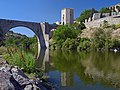 Alcantara Bridge in Toledo, Spain. View from the north-east.jpg
