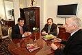 Alfonsín con Edmund Phelps, premio Nobel de Economía 2006.jpg