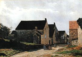 Alfred Sisley - Street of Marlotte aka Women Going to the Woods.jpg