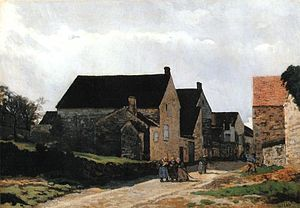 Bourron-Marlotte - Alfred Sisley - Street of Marlotte (1866)