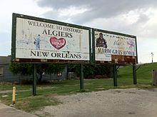Algiers sign (Algiers Point, New Orleans, Louisiana) 001.jpg