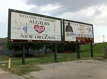 Algiers sign (Algiers Point, New Orleans, Louisiana) 001.jpg