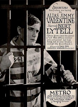 Alias Jimmy Valentine (1920 film) - ad for film
