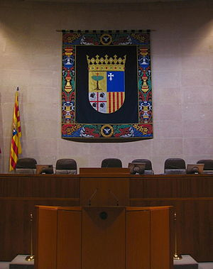 Aragonese Corts - Chamber of the legislative assembly of Aragon in the Aljafería