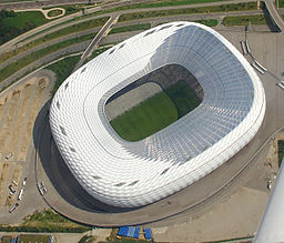 Allianz Arena, aerial view